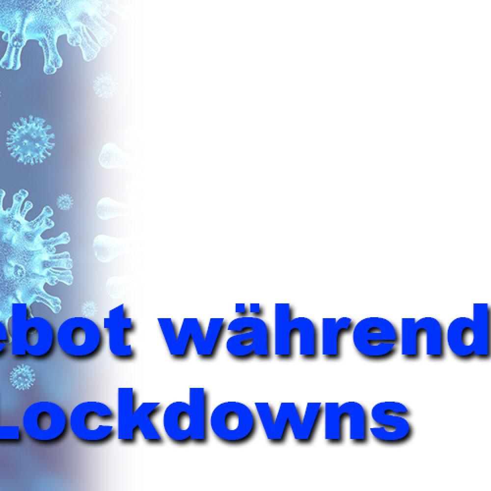 Angebote während des Lockdowns
